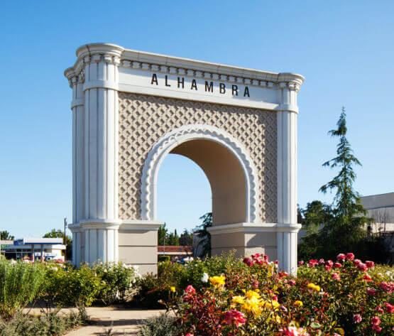 City of Alhambra ceremonial gate landmark